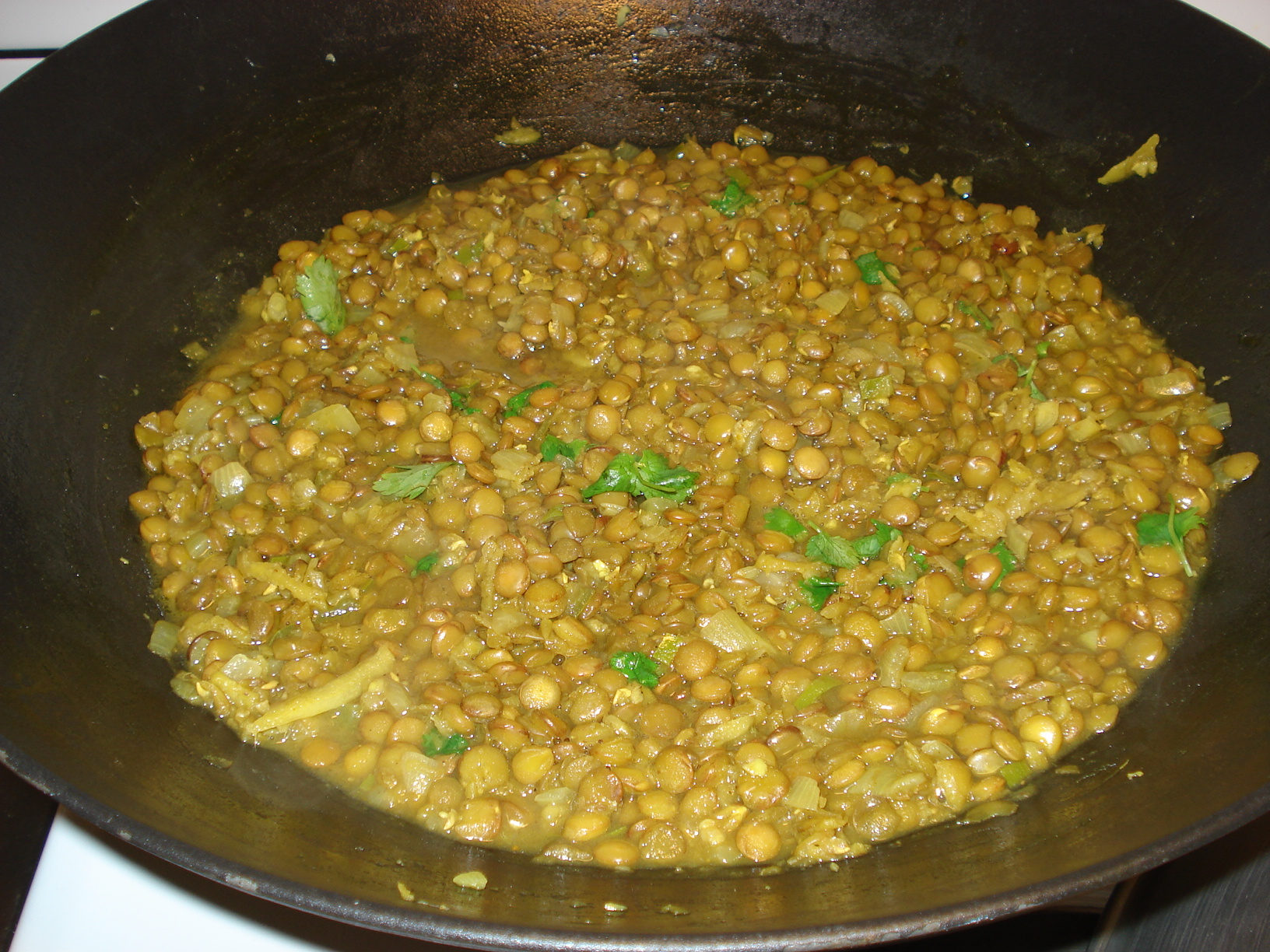 Dhal with green lentils