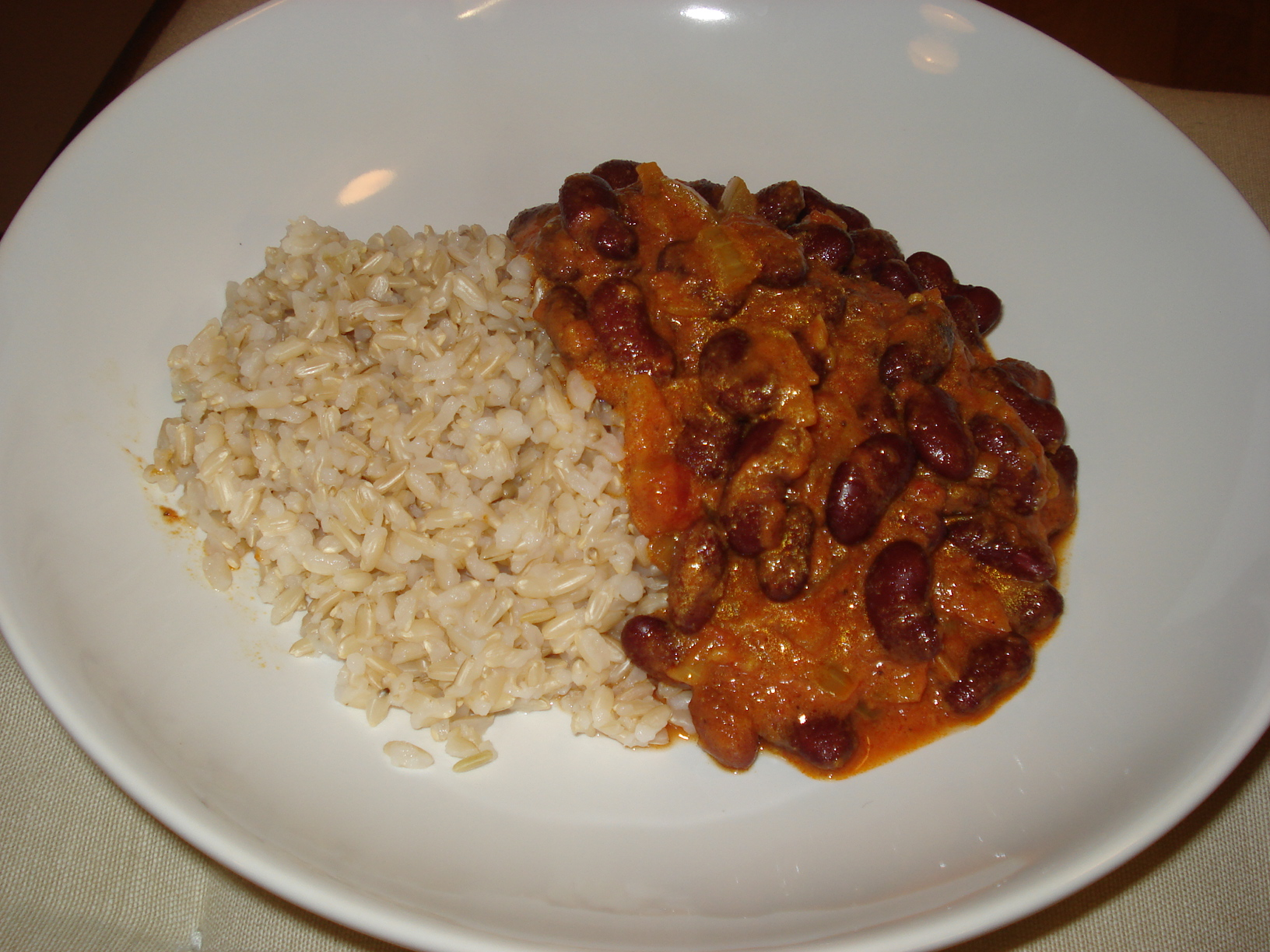 Kidney beans and rice (Rajma Chawal)