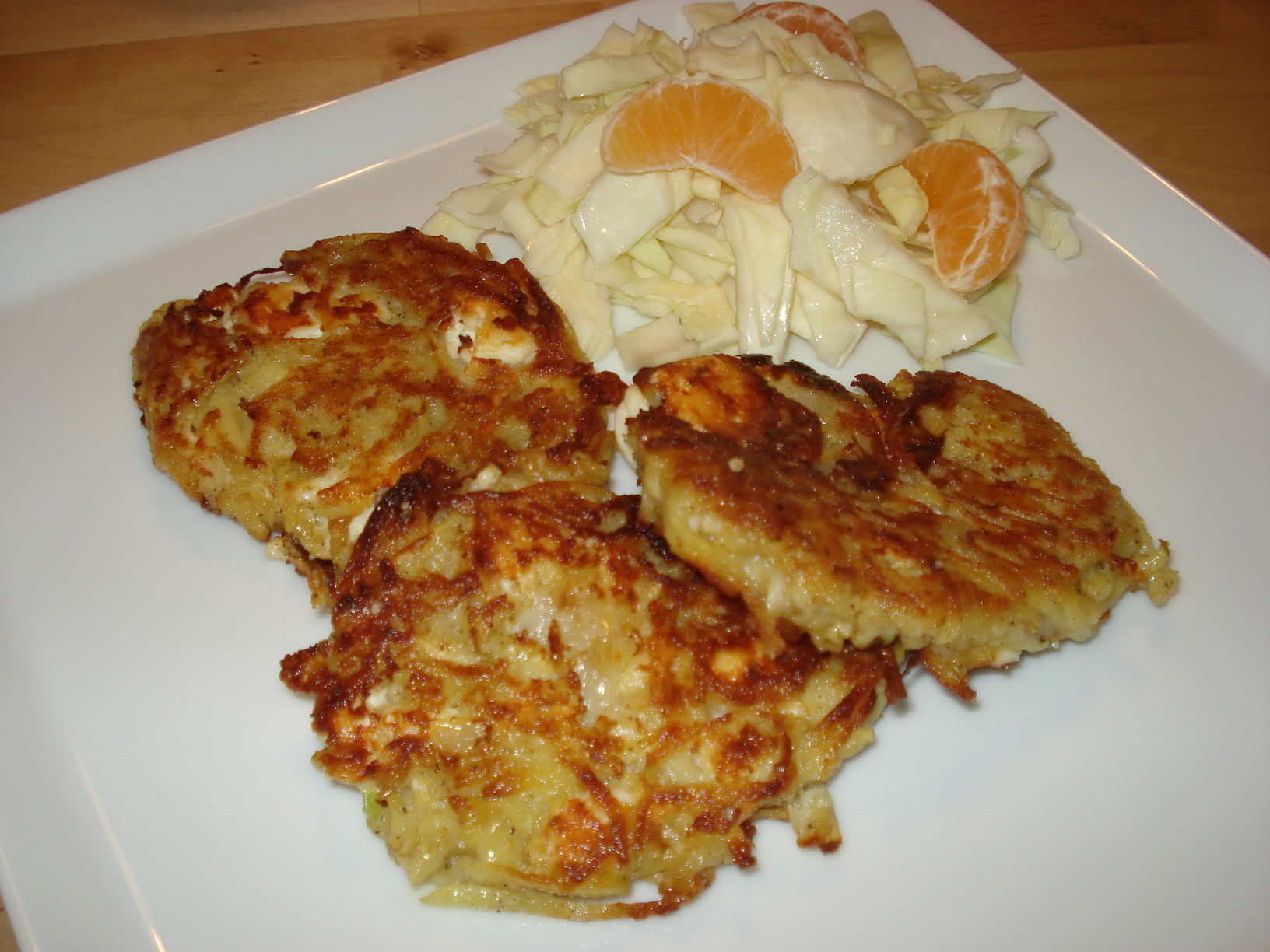 Potato cakes with feta cheese and thyme