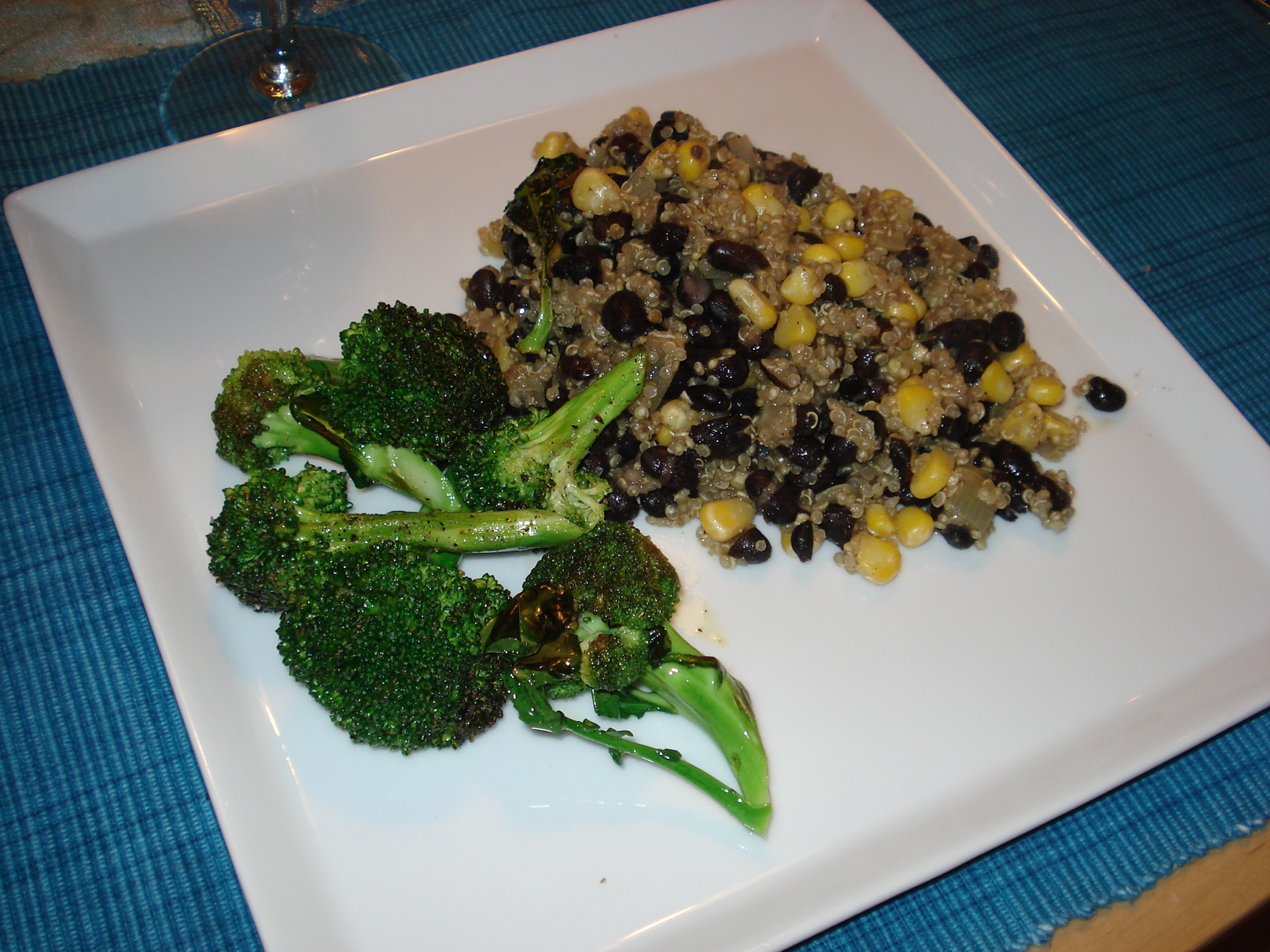 Quinoa with black beans and cumin